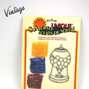 Vintage 'Stained Glass' Baking Crystals Craft
